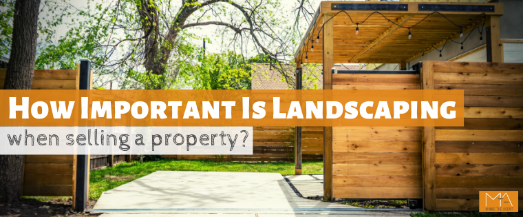 Landscaping when selling